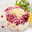 Russian herring salad - Stock Photo