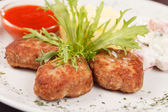 Cutlets with potatoes — Stock Photo