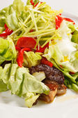 Salad with meat — Stock Photo