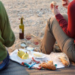 Picnic on the beach - Stock Photo