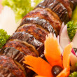 Kebab on skewers — Stockfoto