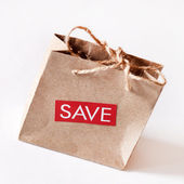 Paper shopping bag — Stock Photo