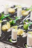 řecký jogurt s rukolou rohlíky — Stock fotografie