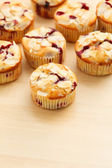 Muffins with almond and blueberries — Stock Photo