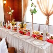 Wedding table setting — ストック写真