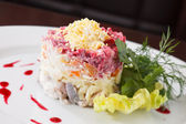 Russian herring salad — Stock Photo