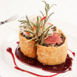 Fillet Wellington with fresh herbs - Foto de Stock