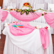Wedding table setting — Stockfoto