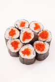 Sushi with caviar — Stock Photo