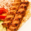 Stock Photo: Kebab with vegetables