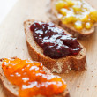 Stock Photo: Toasts with jam