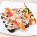 Traditional Japanese food Sushi — Stock Photo #25194481
