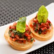 Stock Photo: Fresh and tasty bruschetta