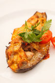 Baked Eggplant with Vegetables — 图库照片