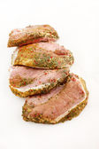 Meat with spice — Stock Photo