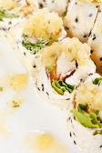 Sweet rolls with banana sorbet — Foto de Stock