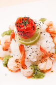 Rice with shrimps — Stockfoto