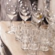 Royalty-Free Stock Photo: Empty glasses on restaurant table