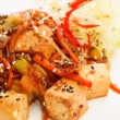 Fried tofu with vegetables — Stock Photo