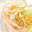 Coleslaw with shredded cabbage — Stock Photo