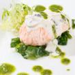 Salmon Fillet in Cream Sauce — Stock Photo