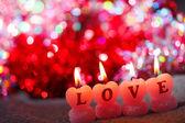 Romantic candles — Stock Photo