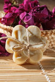 Soap with roses — Stock Photo