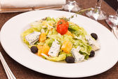 Salad with cheese and orange — Stock Photo