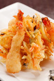 Japanese Cuisine - Tempura Shrimps — Stock Photo