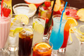 Colorful cocktails close up — Stock Photo