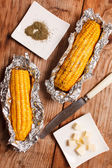Corn with butter — Stock Photo