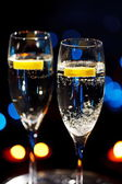 Flöten champagner — Stockfoto