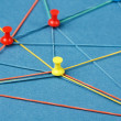 Network with pins — Stock Photo