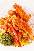 Tempura chicken — Stock Photo