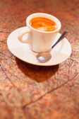 Cup of coffee in vip room — Stock Photo