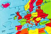 Map puzzle — Stock Photo