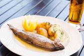 Fish with potatoes — Stock Photo