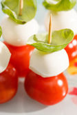Tomato and mozzarella — Stock Photo