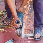 Řezání kovů — Stock fotografie