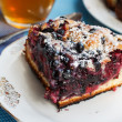 Homemade berry cake — Stock Photo