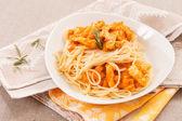 Pasta with pumpkin — Stock Photo