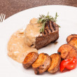 Stock Photo: Beef steak with potatoes