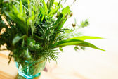 Summer grass in a glass — Stock Photo