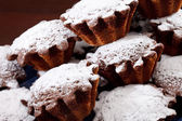 Cakes with sugar powder — Stock Photo