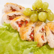 Stock Photo: Stuffed chicken rolls