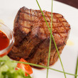 Stock Photo: Grilled steak with sauce