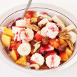 Fresh muesli with fruits — Stock Photo