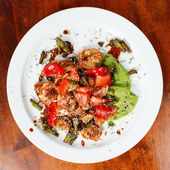 肉与蔬菜 — 图库照片