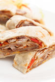 Pita with meat — Stock Photo