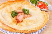 Big omelette — Stock Photo